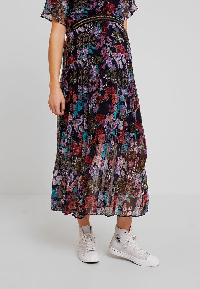 SKIRT VALENCIA - Maxi skirt - black iris