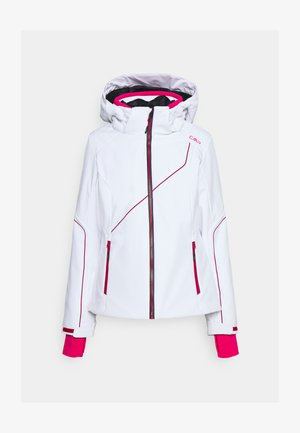 WOMAN JACKET ZIP HOOD - Laskettelutakki - bianco