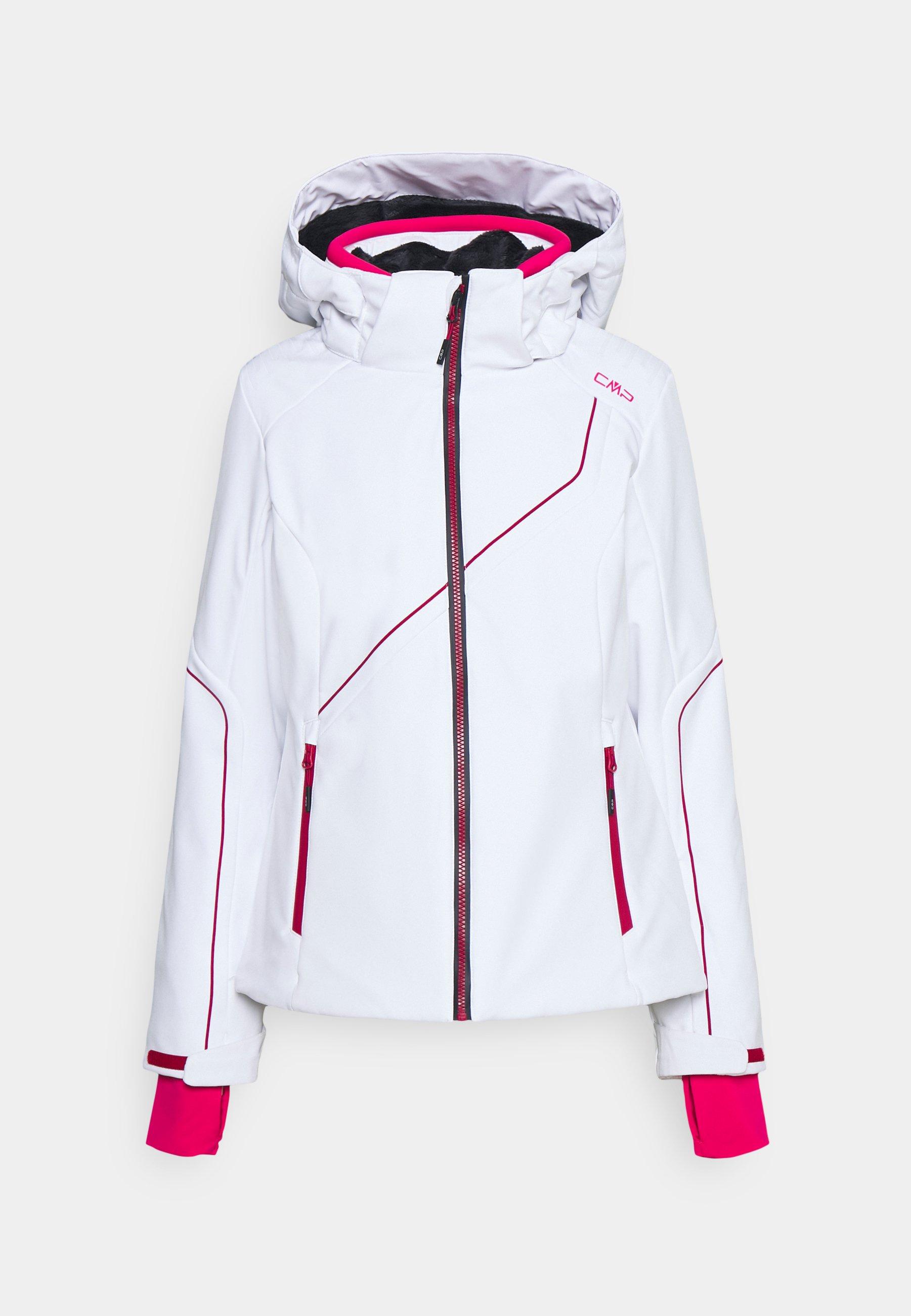 CMP Parka Veste Woman Fix Hood Coat Blanc Coupe-vent Imperméable