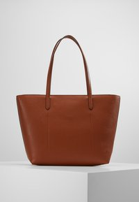 Lauren Ralph Lauren - VEGAN TOP ZIP TOTE - Håndtasker - tan/orange - 2