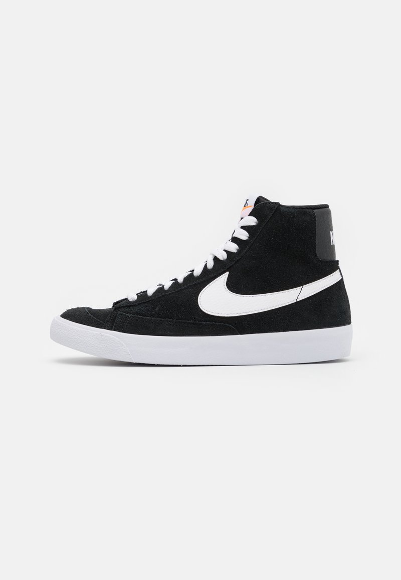 Nike Sportswear - BLAZER MID '77 UNISEX - Sneakersy wysokie - black/white/total orange