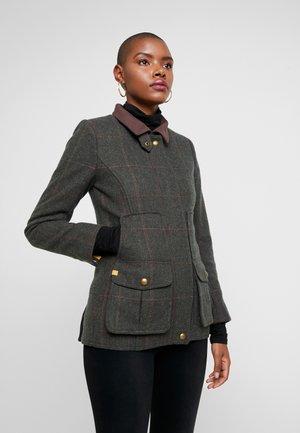FIELDCOAT - Classic coat - dark green tweed