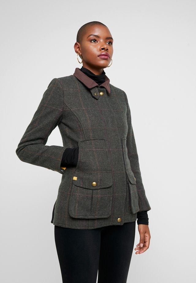 FIELDCOAT - Zimní kabát - dark green tweed