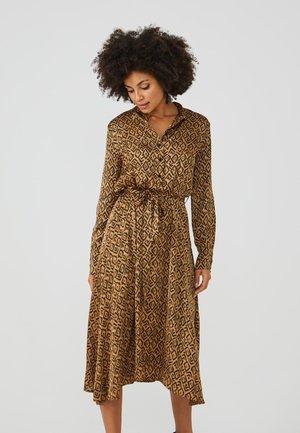 SOILA GRAPHIC VIS 520 - Shirt dress - noisette