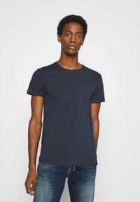 LTB - 3 PACK MULTI - Basic T-shirt - navy/bordeaux/white - 5