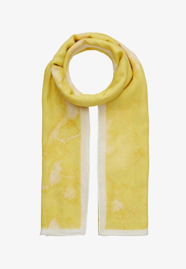 TIE DYE SQUARE SCARF - Skjerf - pastel yellow