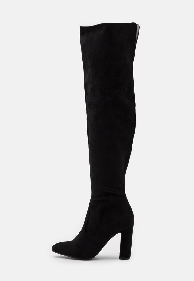 CLOVER - Boots med høye hæler - black