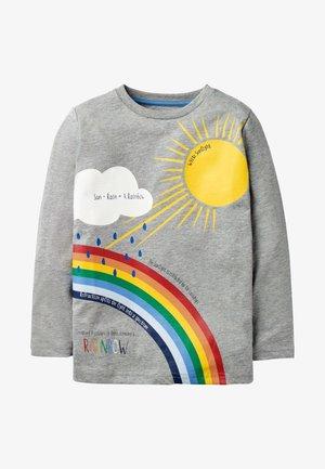 Long sleeved top - grau meliert, regenbogen