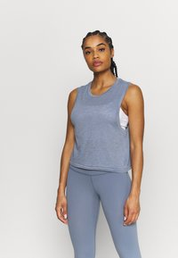 Cotton On Body - ALL THINGS FABULOUS CROPPED MUSCLE TANK - Top - blue jay wash - 0