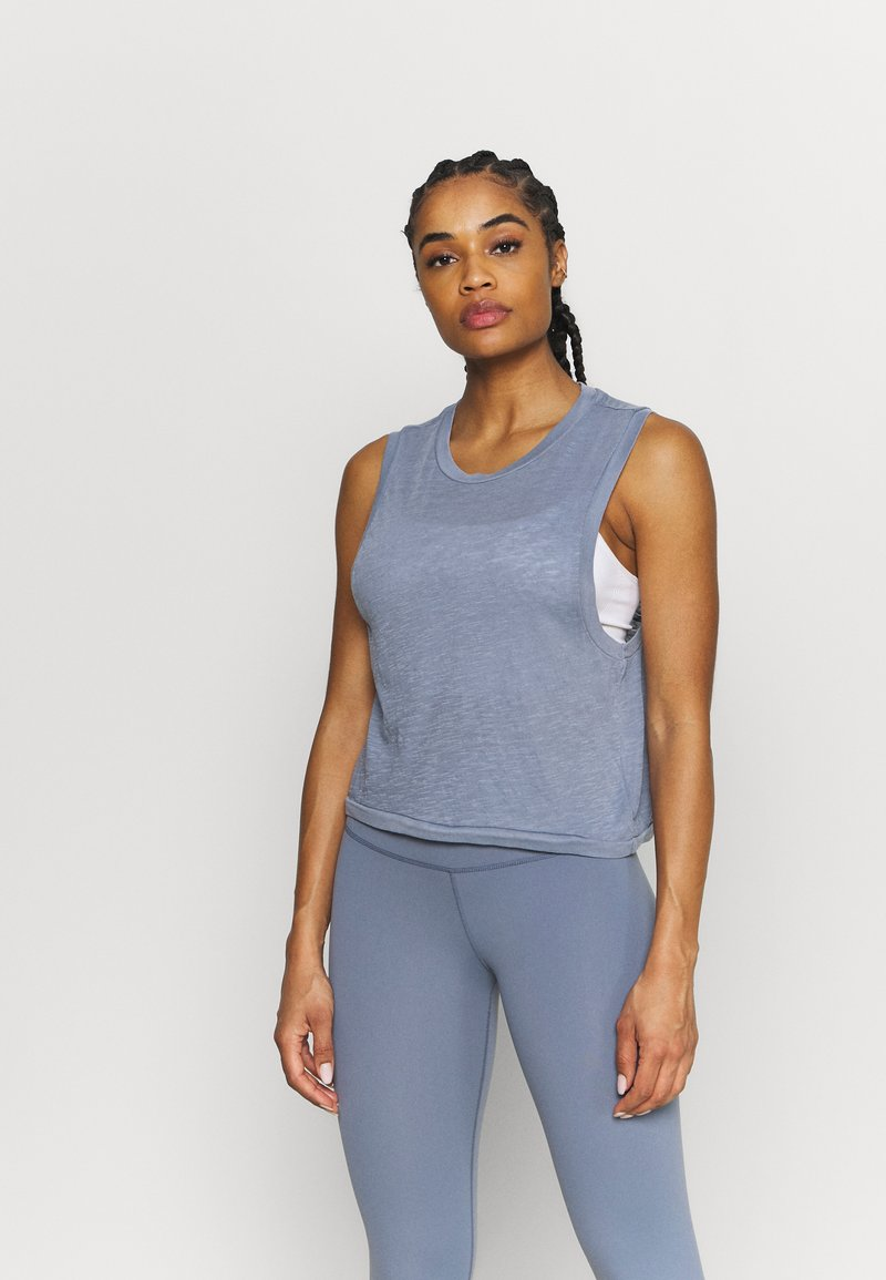 Cotton On Body - ALL THINGS FABULOUS CROPPED MUSCLE TANK - Top - blue jay wash