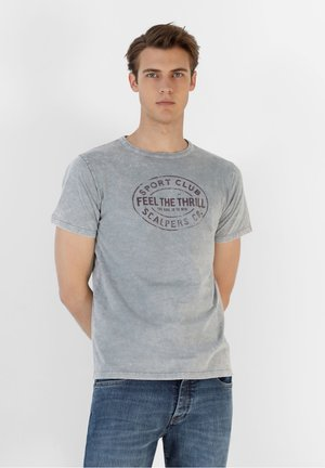 FADED PRINT  - T-shirt con stampa - grey