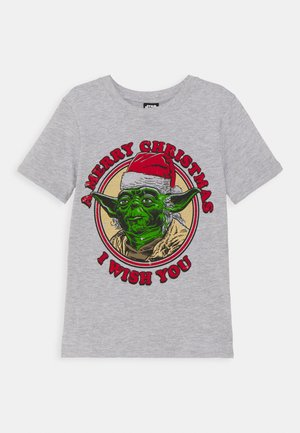 CO LAB SHORT SLEEVE TEE - Print T-shirt - light grey marle
