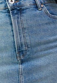 Bershka - HIGH WAIST - Denim skirt - blue denim - 5
