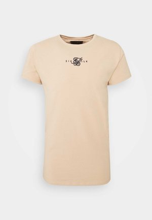ALLURE STRAIGHT HEM GYM TEE - Basic T-shirt - beige