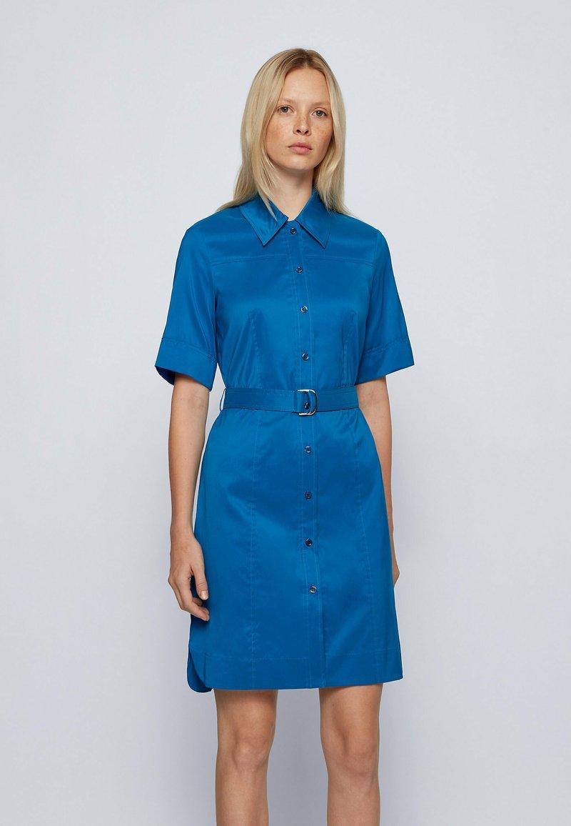 BOSS - DASHILO - Shirt dress - open blue