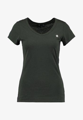 EYBEN SLIM - Basic T-shirt - asfalt