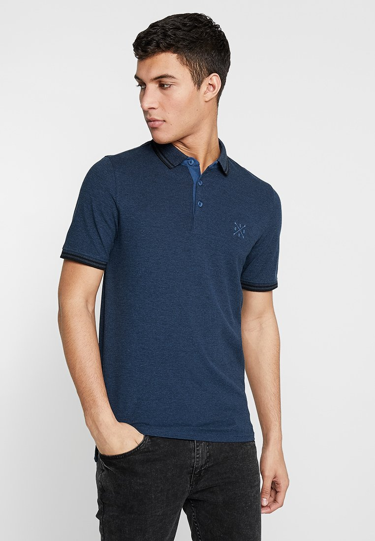 Only & Sons - ONSSTAN FITTED TEE  - Polotričko - ensign blue/black
