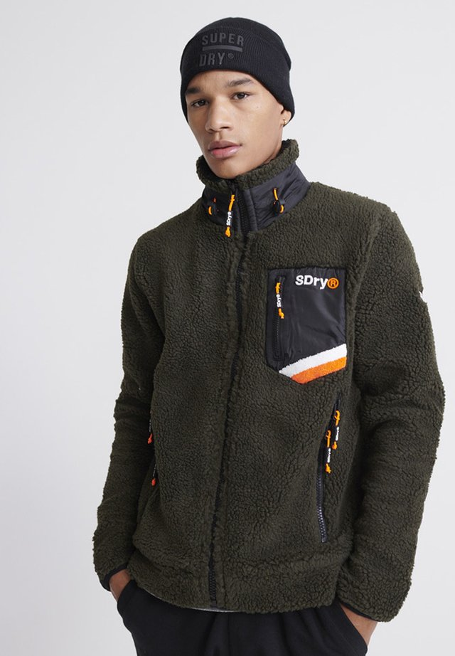SUPERDRY CELSIUS SHERPA TRACK TOP - Light jacket - dark olive