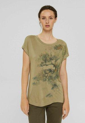 Print T-shirt - light khaki