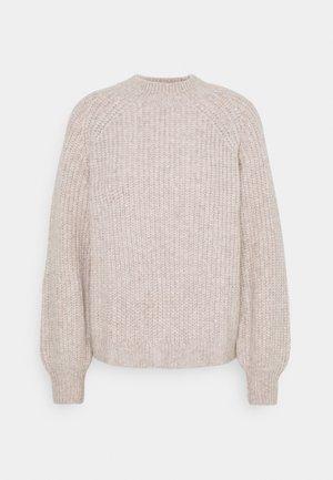 CHUNKY MOCK - Sweter - beige melange