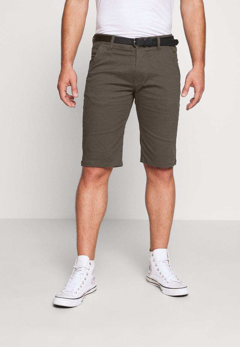 Lindbergh - CLASSIC  BELT - Shorts - dark army