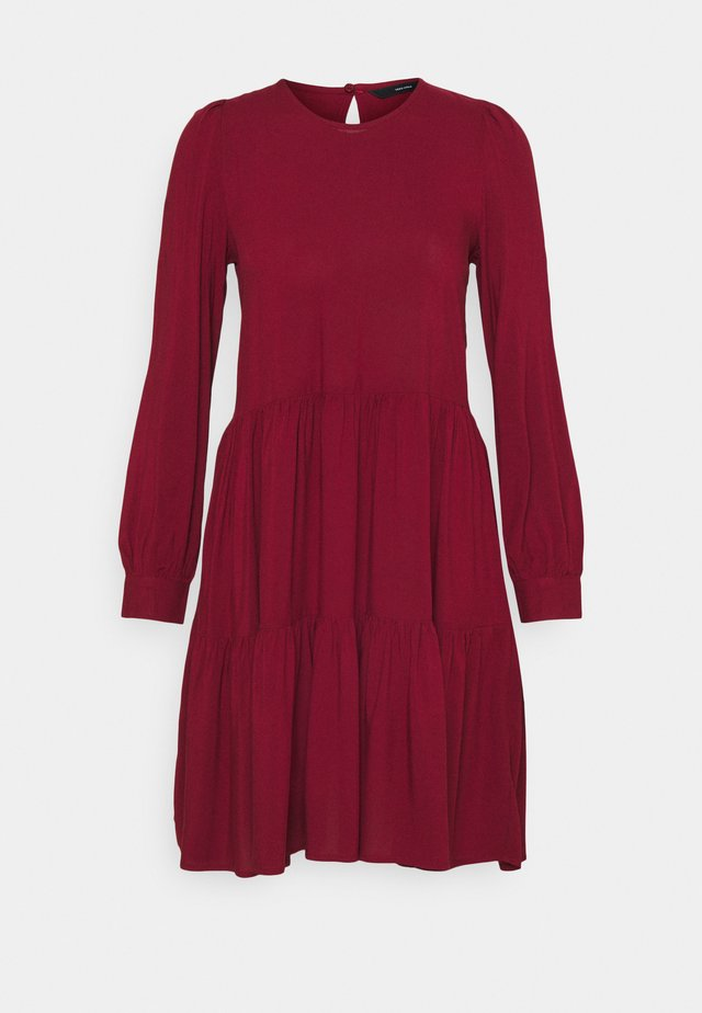 VMNADS GIRLIE DRESS - Kjole - cabernet