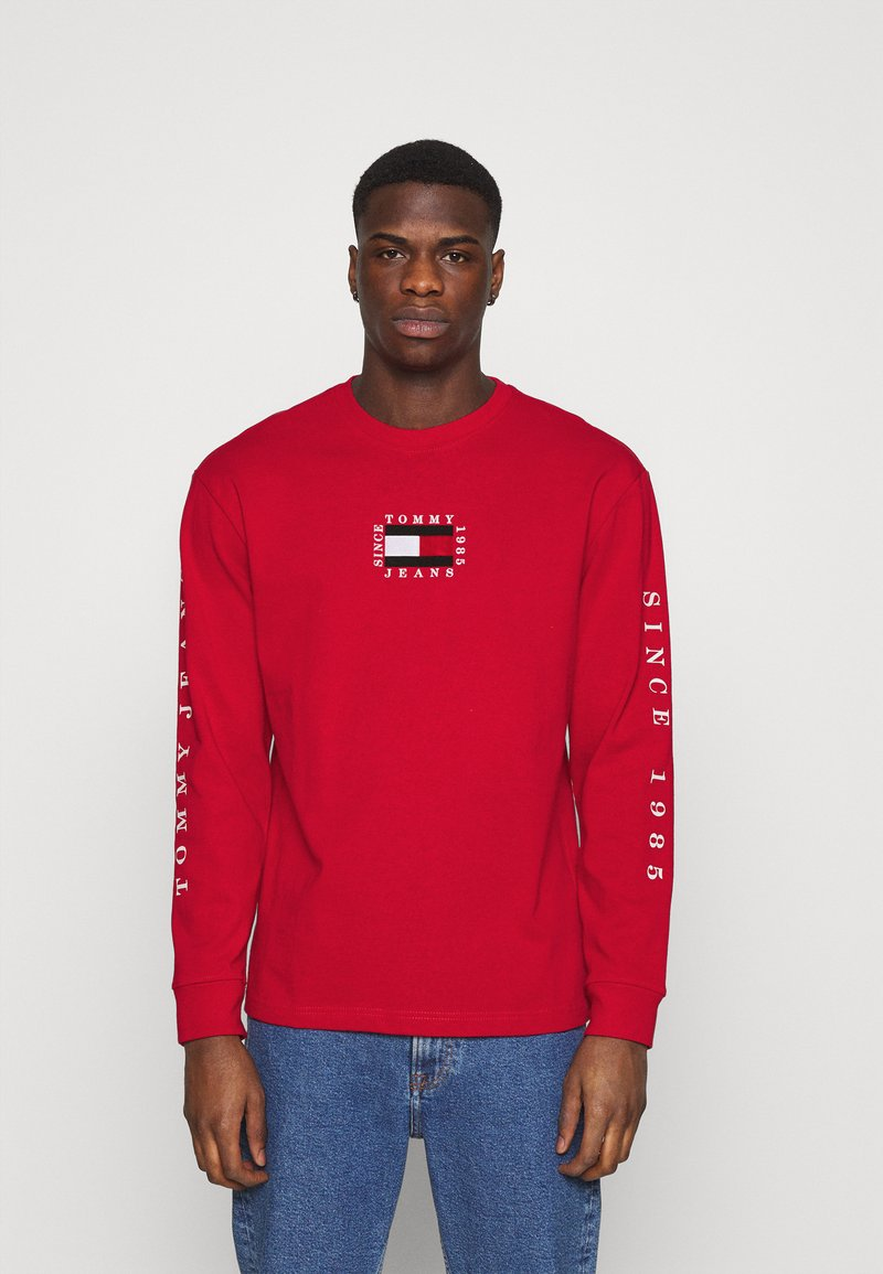 Tommy Jeans - Long sleeved top - deep crimson