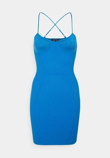 CROSS FRONT BODYCON DRESS