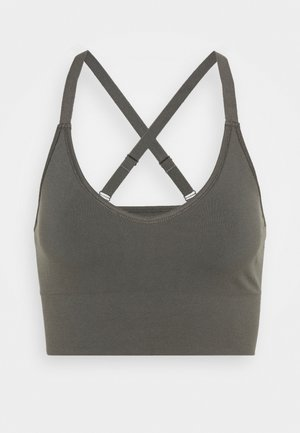 CROSSBACK SEAMLESS MIDI - Top - green grey