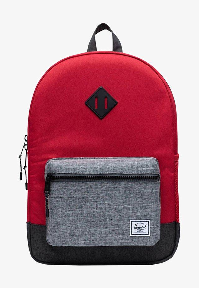 School bag - red/raven crosshatch/black crosshatch