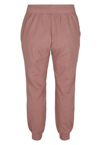 Active by Zizzi - Tracksuit bottoms - rose taupe melange - 5