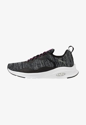 HYBRID FUEGO - Neutral running shoes - black/luminous pink