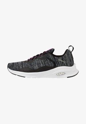 HYBRID FUEGO - Neutrální běžecké boty - black/luminous pink
