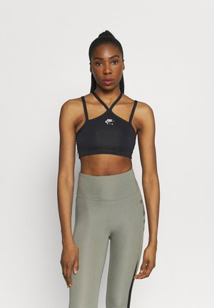 INDY AIR  - Light support sports bra - iron grey/black/white