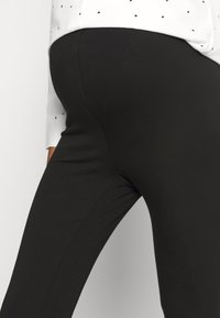 Missguided Maternity - BASIC 2 PPACK - Leggings - Trousers - black/grey marl - 5