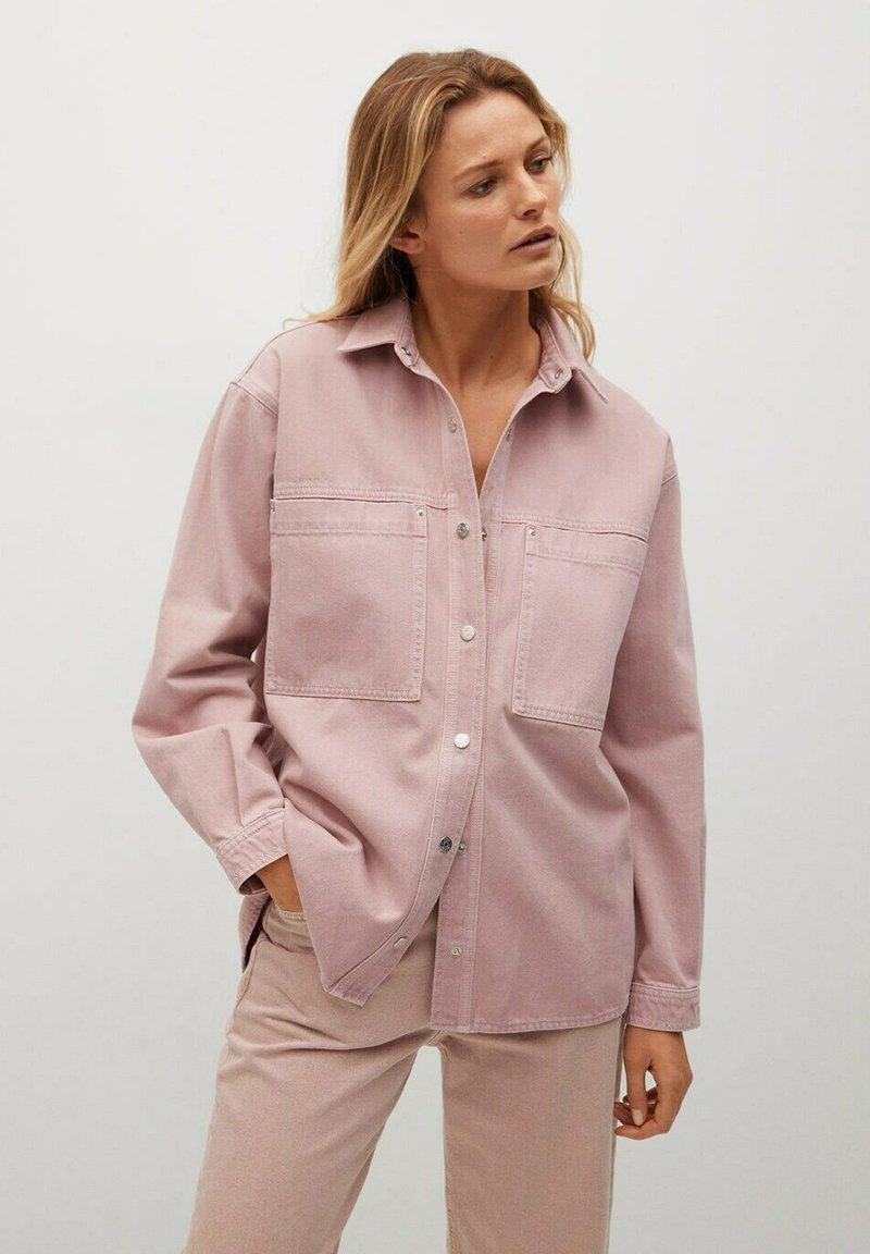 Mango - MICHELLE - Button-down blouse - lys/pastell lilla