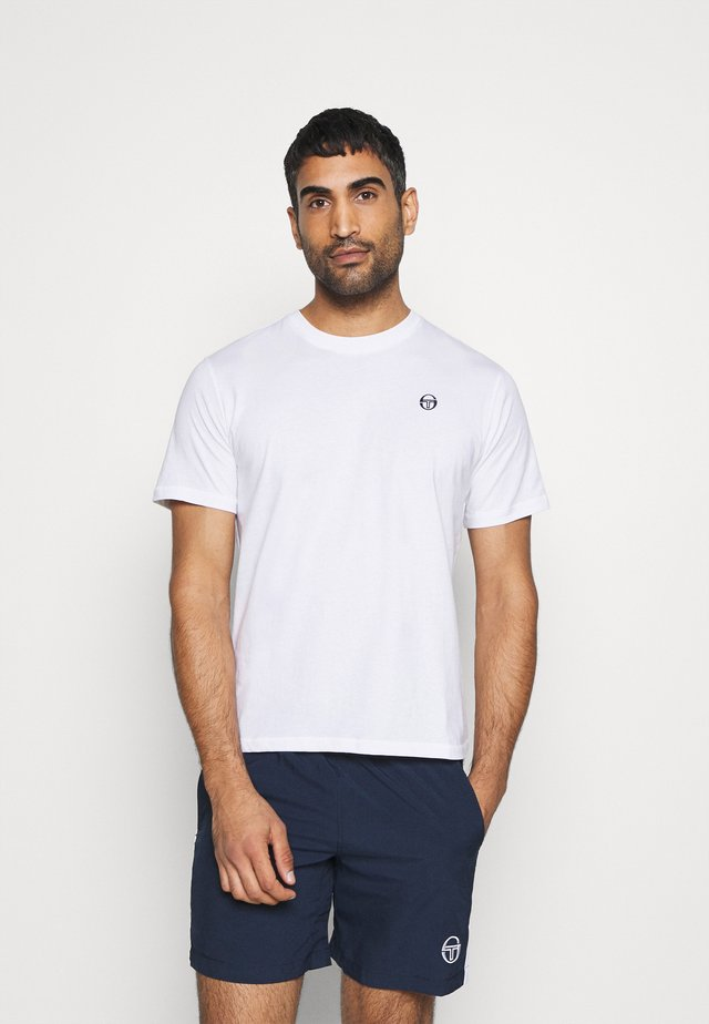 RUN - T-shirt basic - white/navy