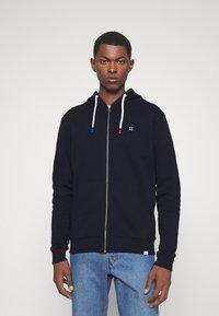 Les Deux - FRENCH ZIPPER HOODIE - Zip-up hoodie - navy - 0