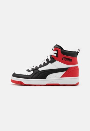 REBOUND JOY UNISEX - Vysoké tenisky - white/black/high risk red