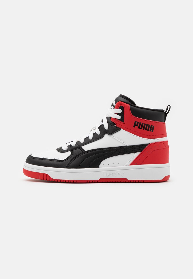 Puma - REBOUND JOY UNISEX - High-top trainers - white/black/high risk red