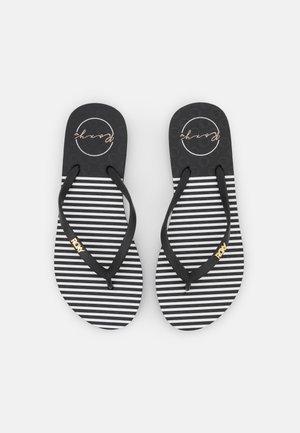 VIVA STAMP - Sandály do bazénu - black/white