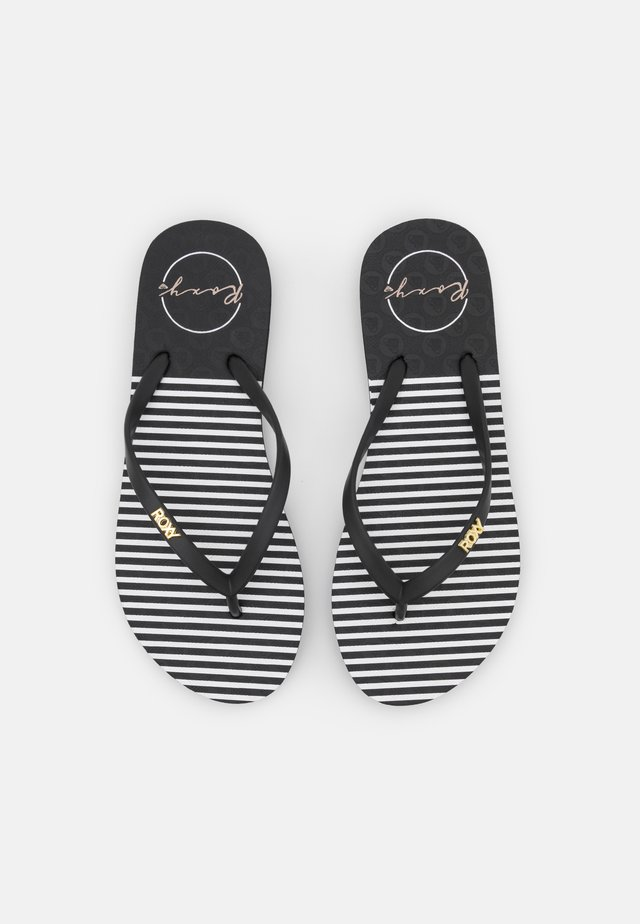 VIVA STAMP - Badslippers - black/white