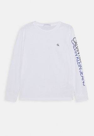 REPEAT LOGO - Long sleeved top - white