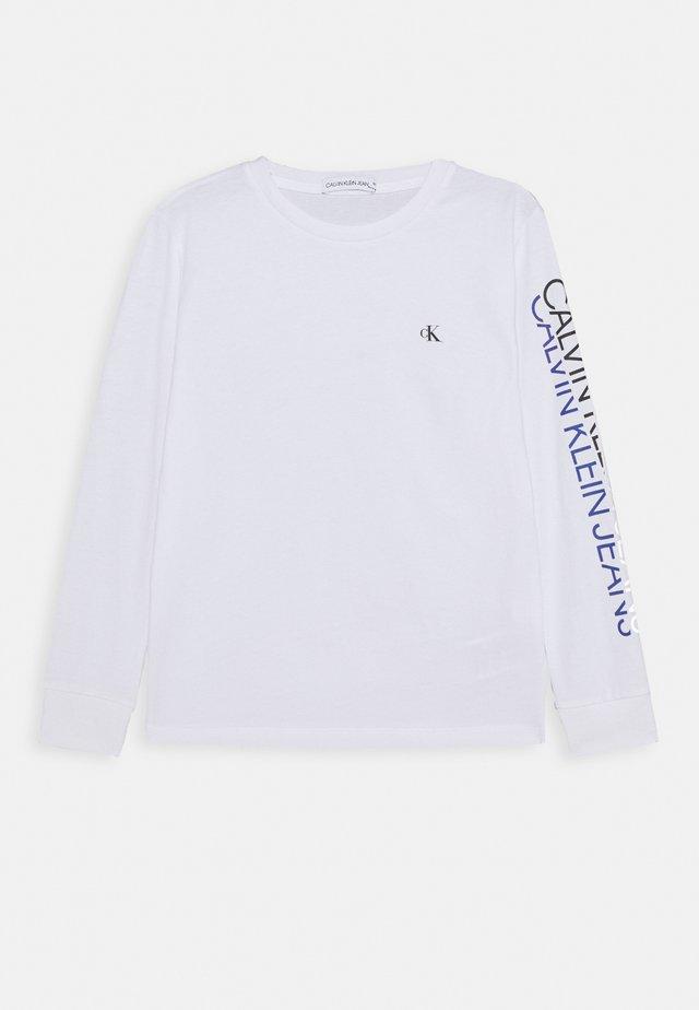 REPEAT LOGO - Pitkähihainen paita - white