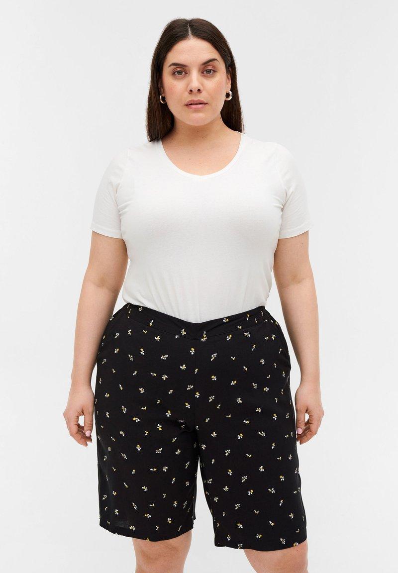 Zizzi - Shorts - black aop