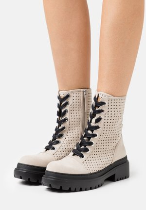 JUNO - Lace-up ankle boots - taupe