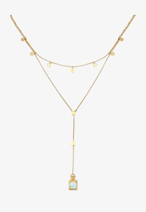 Y-CHAIN MONDSTEIN PLÄTTCHEN  SET - Collana - gold-coloured
