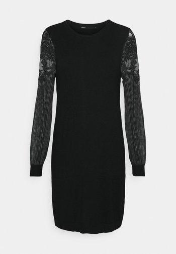 ONLVIKTORIA DRESS - Abito in maglia - black
