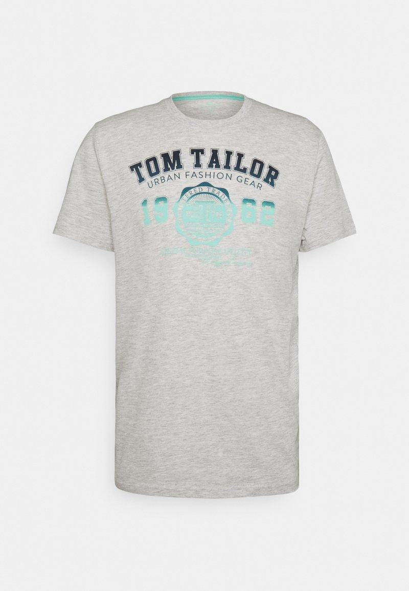 TOM TAILOR - LOGO TEE - Print T-shirt - blanc de blanc white melange
