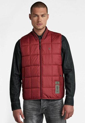 MEEFIC SQUARE QUILTED - Bodywarmer - chateaux red